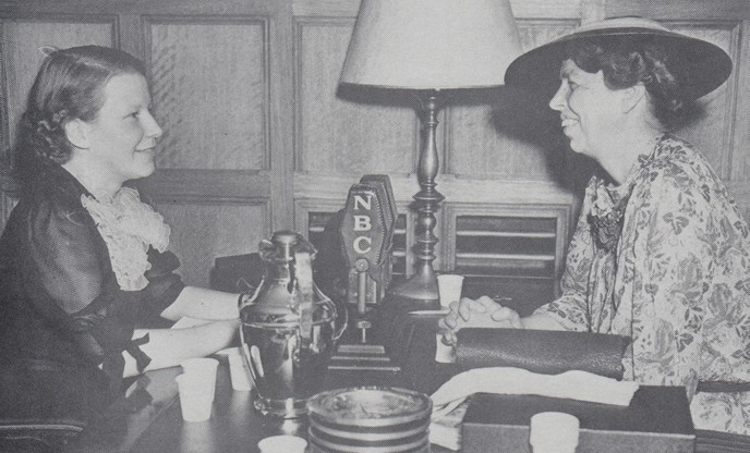 Connie Cook with Eleanor Roosevelt