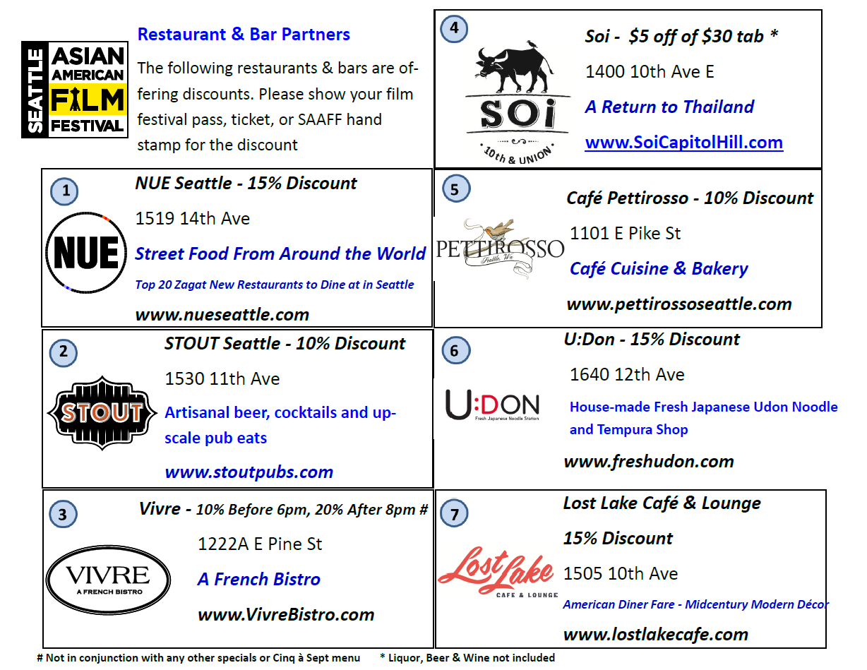 saaff restaurant discounts