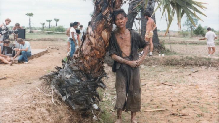 Ngor on The Killing Field set__courtesy Dr Haing S. Ngor Fdn
