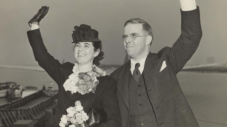 Martha and Waitstill Sharp departing New York Harbor for Prague (via London) 1939. Photo courtesy of Sharp Family Archives