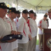 Ceremony commemorating fallen veterans at Saigon. Photo courtesy of Pat Clark.