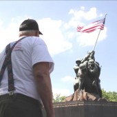 Veteran in Washington D.C. visiting the veterans memorials. Photo courtesy of Travis Weger.