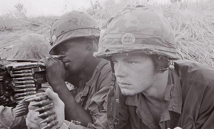 "A Marine machine gun crew from ""G"" Company"