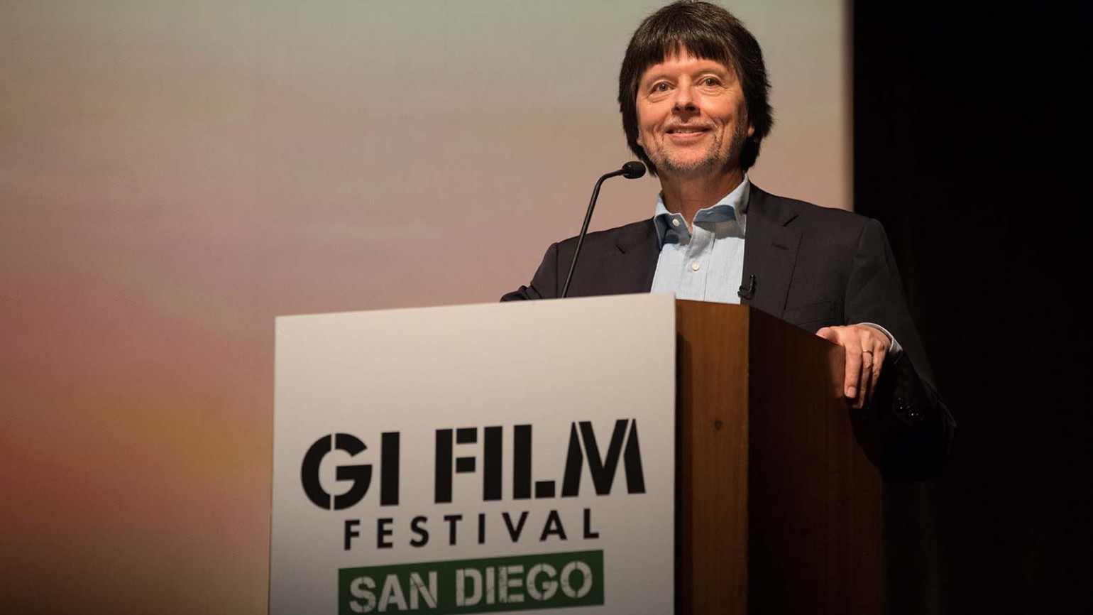 Filmmaker Ken Burns introducing the film.