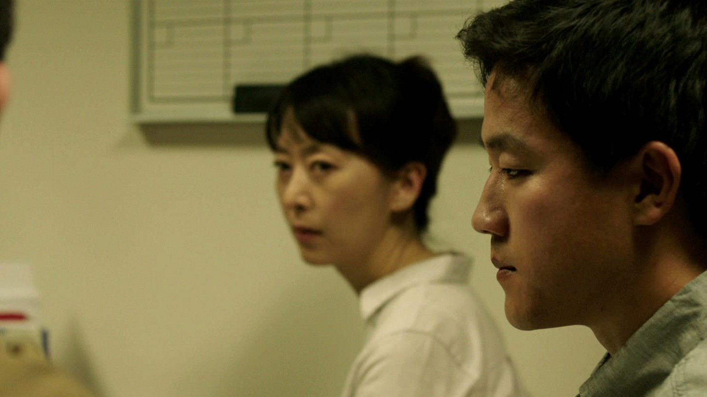 Haerry Kim (Soyoung) and Joe Seo (David) in Andrew Ahn's SPA NIGHT