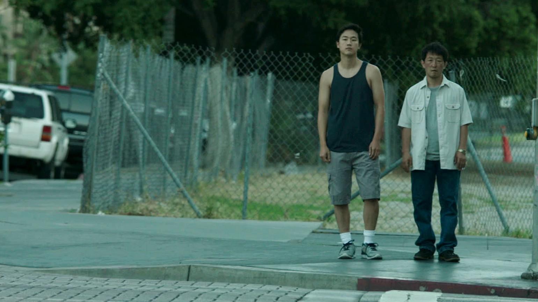 Joe Seo (David) and Youn Ho Cho (Jin) in Andrew Ahn's SPA NIGHT