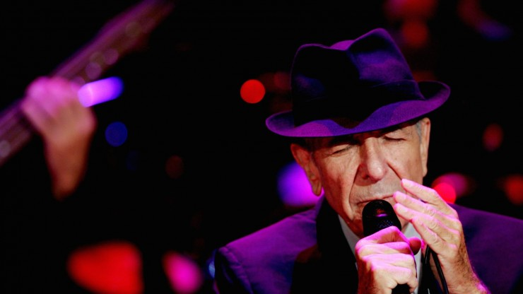 U.S. singer Leonard Cohen during a concert in Ramat Gan September 24, 2009. Photo by Marko / Flash90