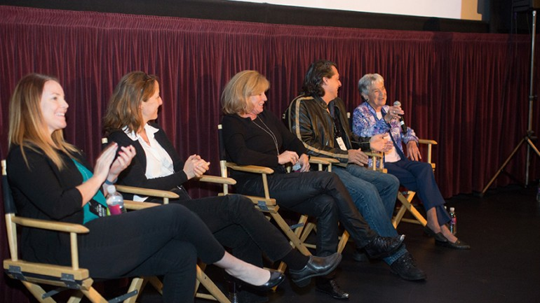 "Panelists following ""Women in the Military"" film block"