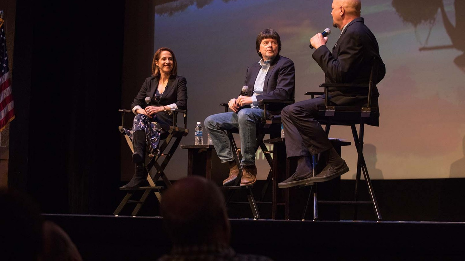 Filmmakers Lynn Novick and Ken Burns in post screening conversation with KPBS Military Reporter Steve Walsh