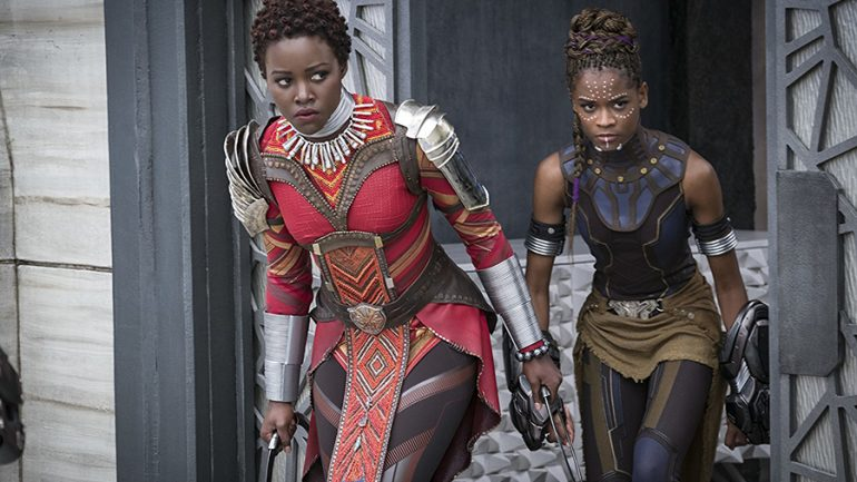 Lupita Nyong'o and Letitia Wright in Black Panther (2018), © 2017 - Disney/Marvel Studios