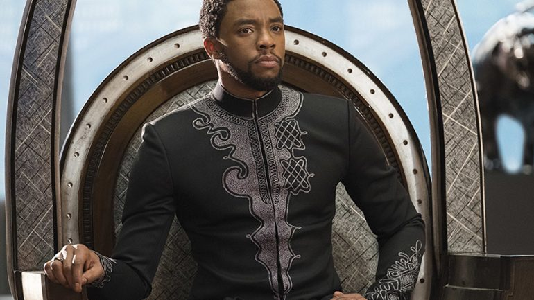 Chadwick Boseman in Black Panther (2018); © 2017 - Disney/Marvel Studios