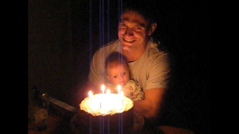 Lt. Van Dorn with child