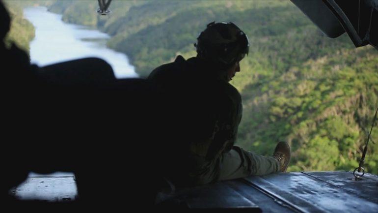 marine on ramp