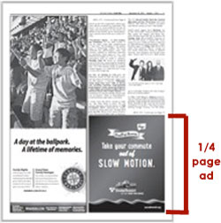 Example of 1/4 page ad in the International Examiner