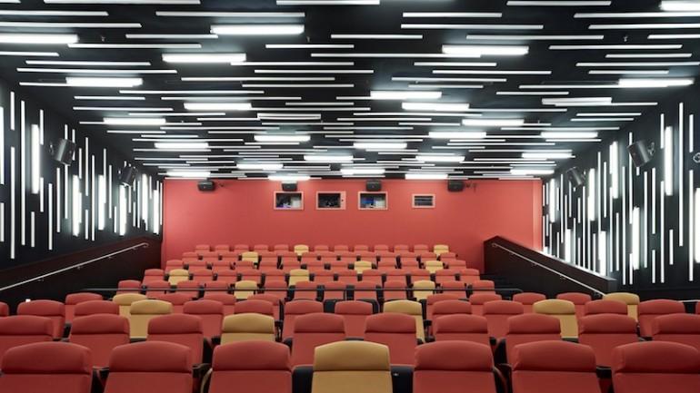 The interior of the San Francisco Film Society   New People Cinema.