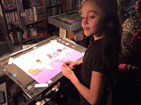 HOPES FOR THE FUTURE-Girl Doing Animation