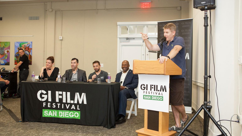 Jamie Kaler moderates panel of veteran filmmakers on Saturday, October 17, 2016