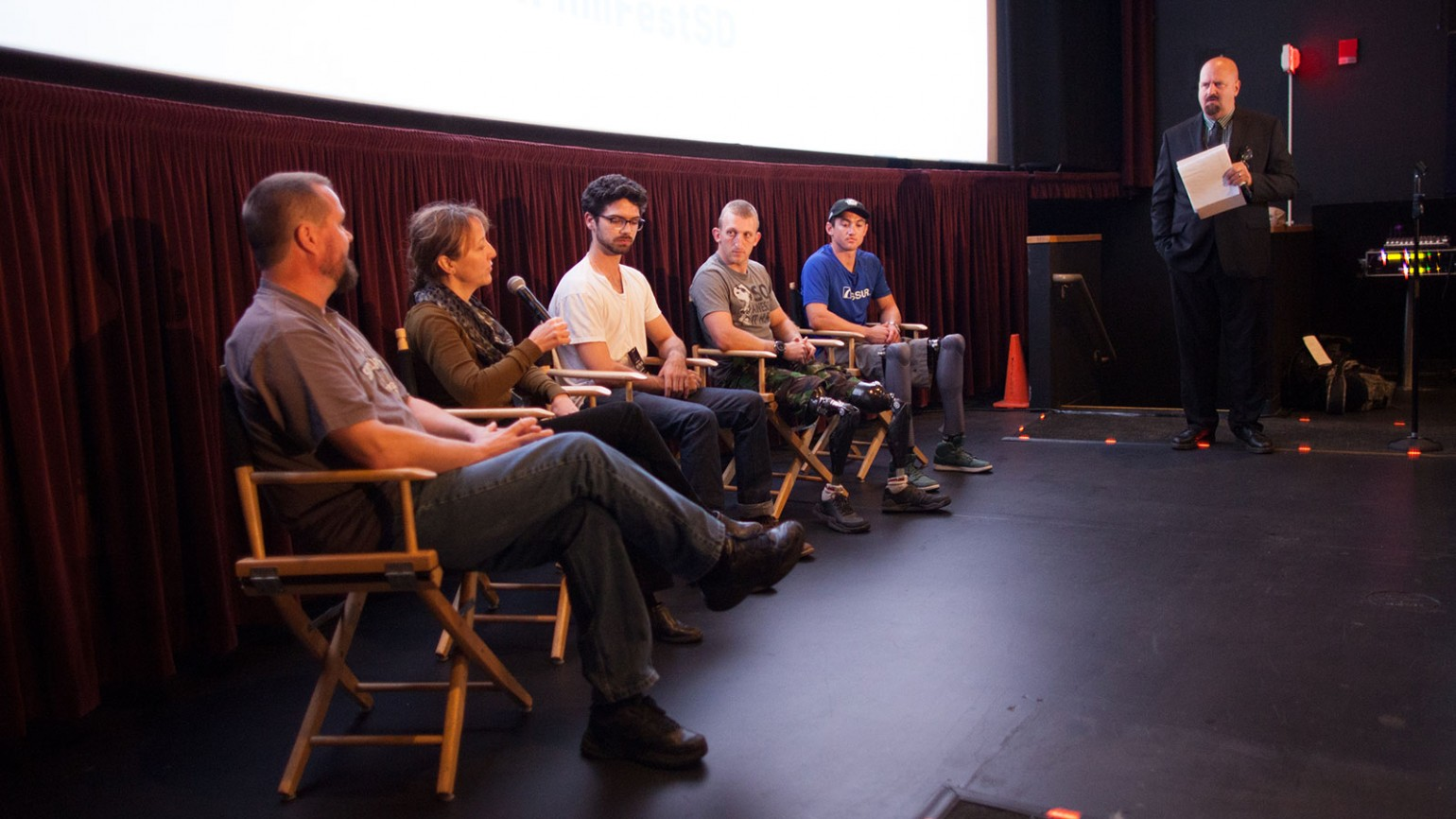 """Panel discussion following """"Triumphs and Tragedies"""" film block on Saturday, October 17, 2015"""