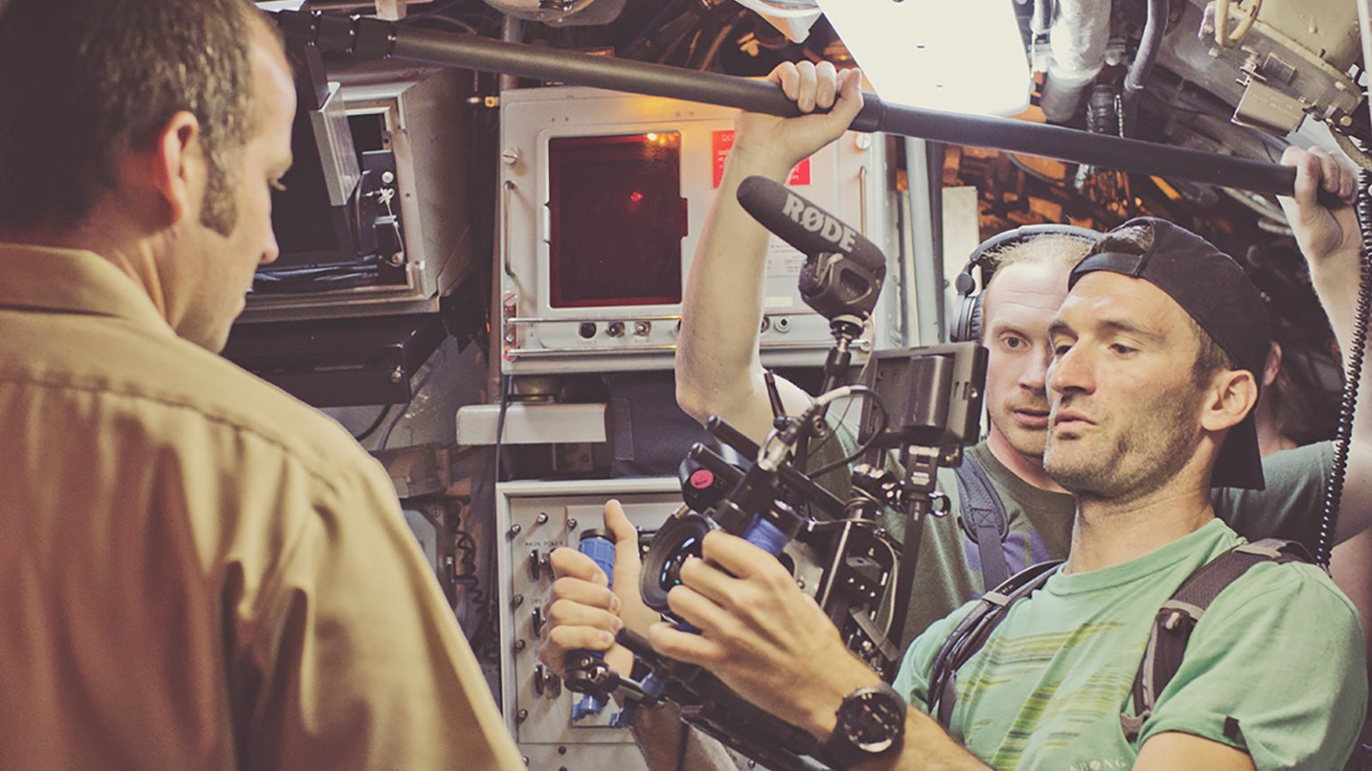 """Behind the scenes image from film """"The Light Once Captured."""" Photo courtesy of Ryan Kelly."""