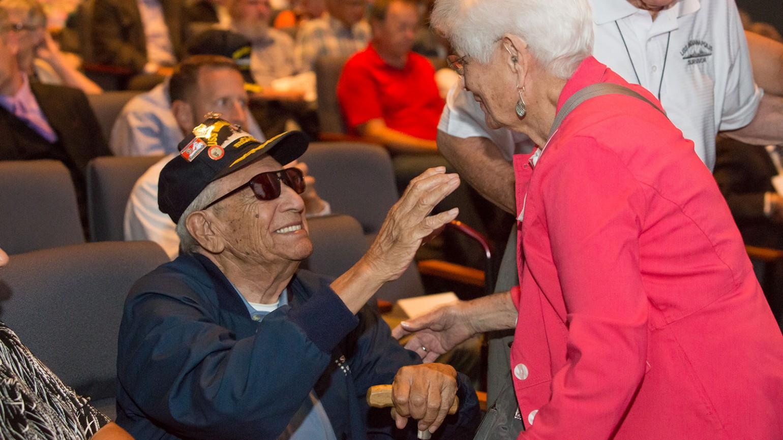 USS Indianapolis survivor, Al Celaya, pictured.