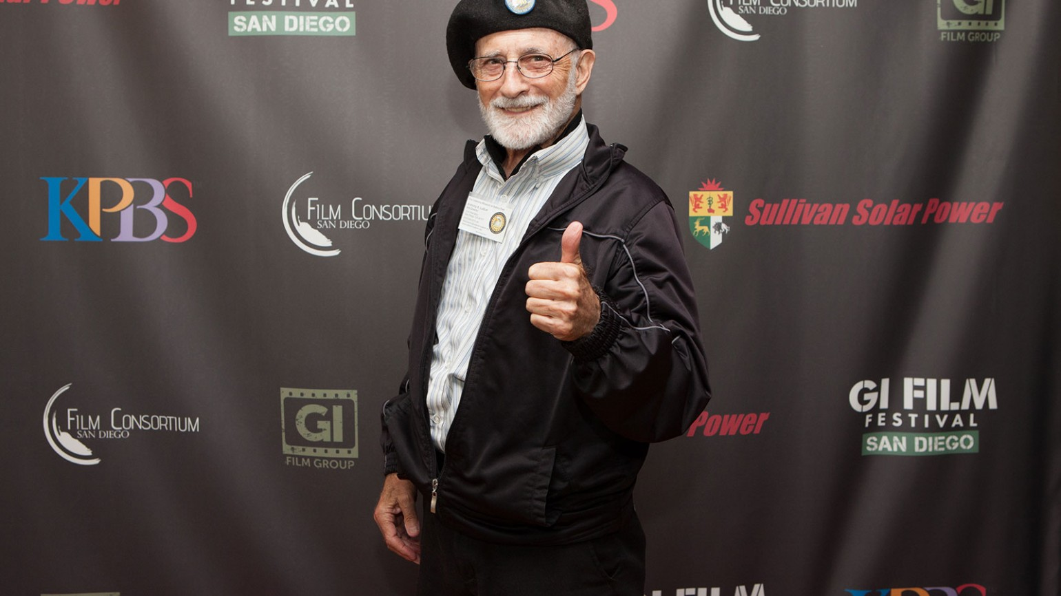Image from 9/15 screenings at the Village Theatres in Coronado. Pictured is Anthony A. LoBue, Arts Director of the Veterans Museum at Balboa Park.