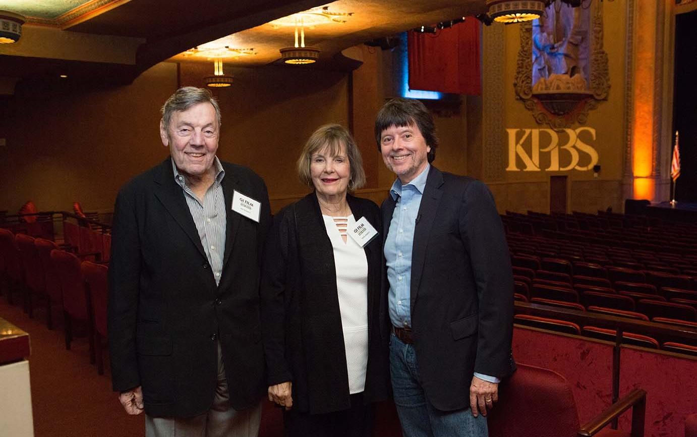 Filmmaker Ken Burns with Skip and Carol Roberts.