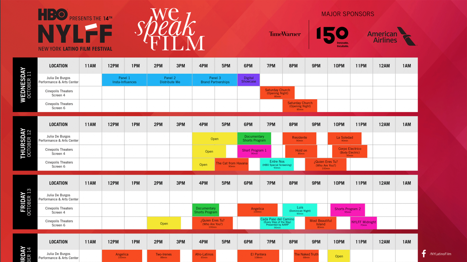 NYLFF - Downloadable schedule